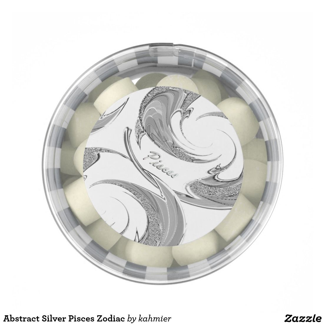 Abstract Silver Pisces Zodiac Gum  20% off and 50% off express shipping
