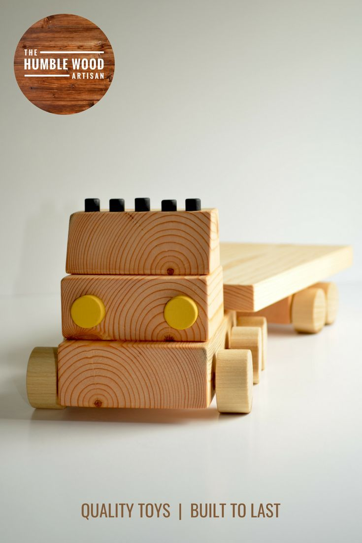Toys for kids logo  Wooden Toy Flatbed Truck  Handmade  ud long x