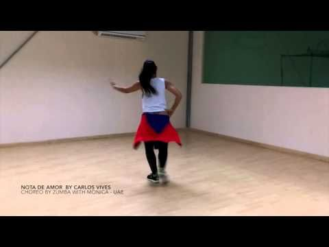 "Zumba ""Nota de amor"" by Carlos Vives, Wisin & Daddy Yankee choreo by Zumba with Monica UAE - YouTube"