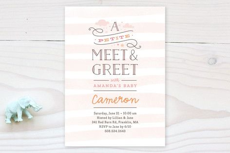 meet and greet invitation sample message