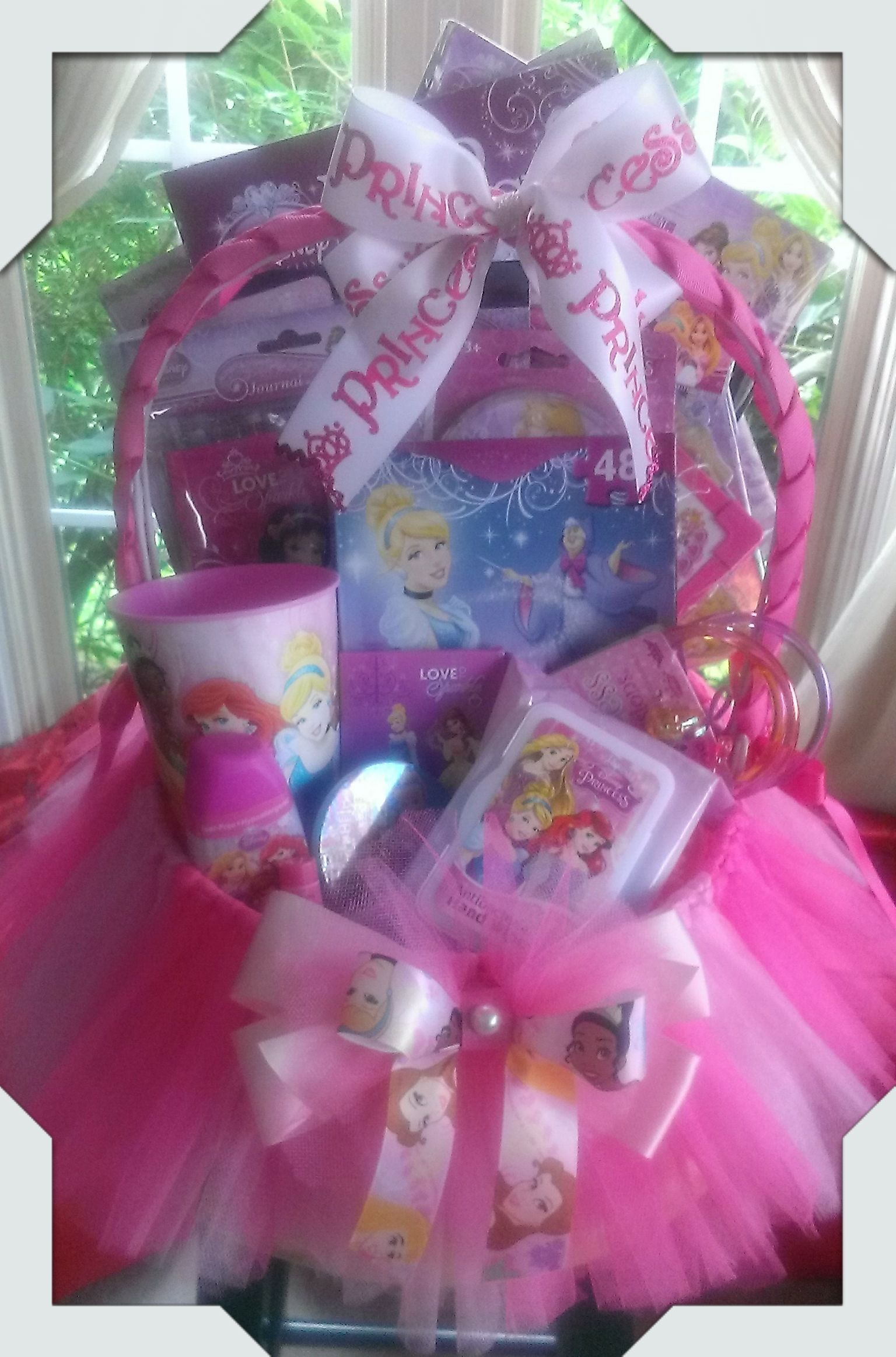 Disney princess gift basket made by normas unique gift baskets disney princess gift basket made by normas unique gift baskets negle Choice Image