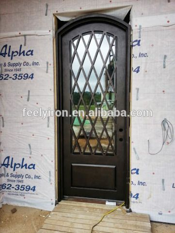 Rhombus Single Iron Entry Door Fs 108 Iron Front Door Iron Doors