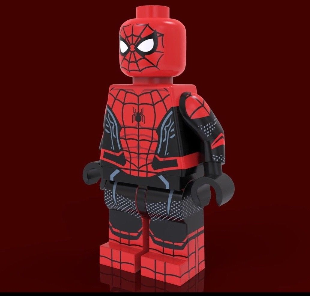 New Lego Custom Spider-man Far From Home Minifigure Spider-man Mini Fig