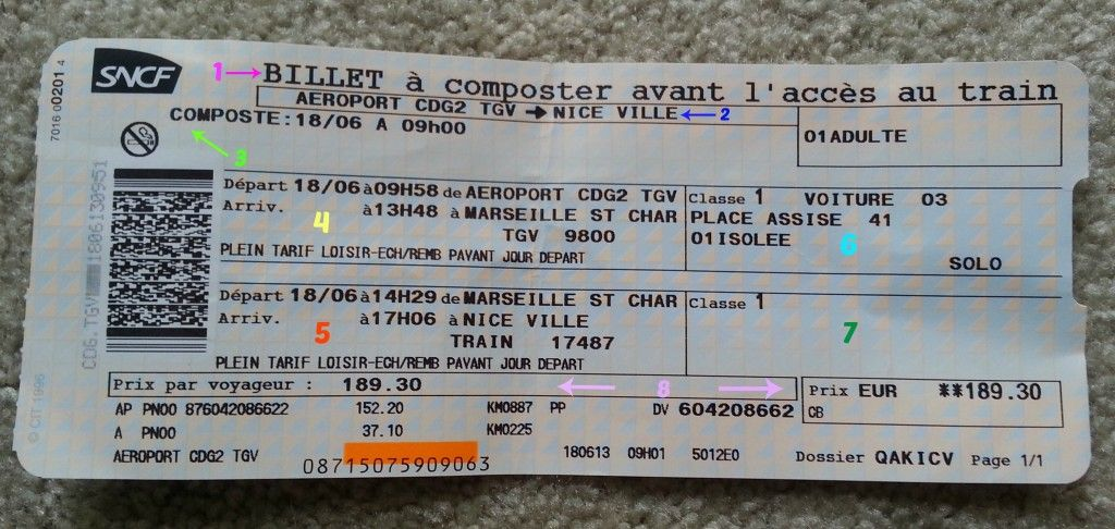 Knowing How To Read a SNCF Train Ticket Will Make Your