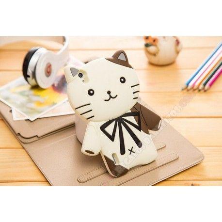 Carcasa Huawei Ascend P7 diseño gatito muñeco 3D