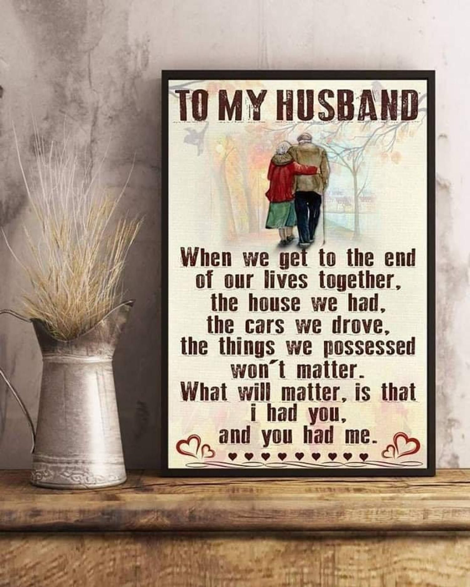 Staripy To My Husband Poster The For You Husband Anniversary Gift Unframe Paper Poster Best Gifts Ever Birthday Gift 3