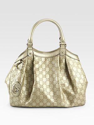 e0cc24acd605 Gucci Sukey Medium Guccissima Tote Bag - In Champagne and in Black Please.
