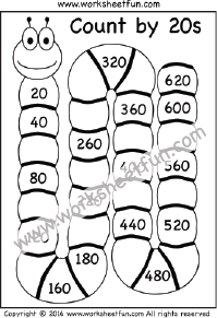 skip counting by 20 count by 20s two worksheets printable worksheets pinterest skip. Black Bedroom Furniture Sets. Home Design Ideas