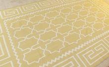 OTTOMAN DHURRIE - Wool - 6' x 9' - Sunflower & White