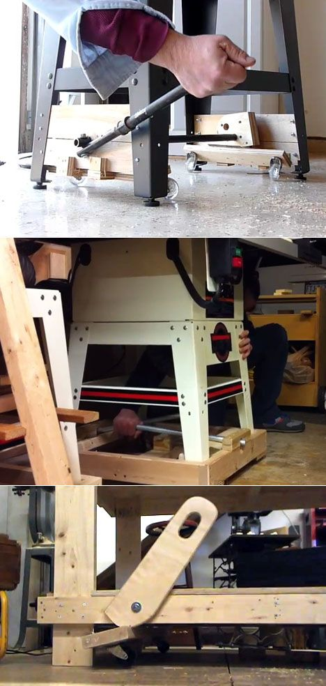 Diy Designs Of Retractable Wheels For Tool Bases Core77 Shop