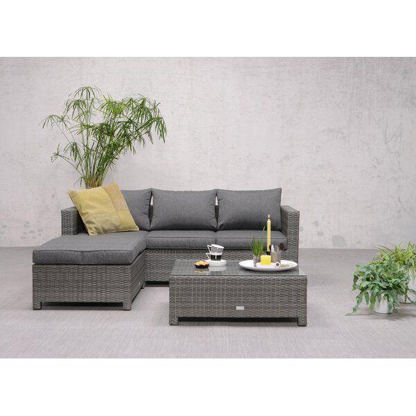 Alexandria Rattan Effect 3 Seater Corner Garden Sofa Set ...