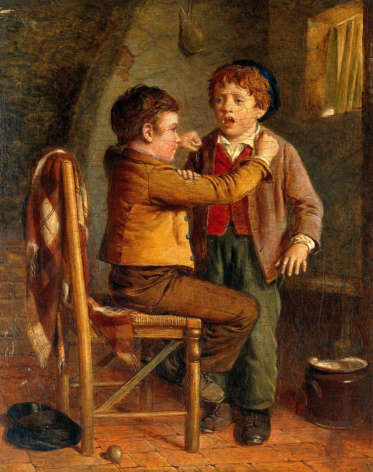 The young dentist. Oil painting by William Hemsley | The Wellcome ...