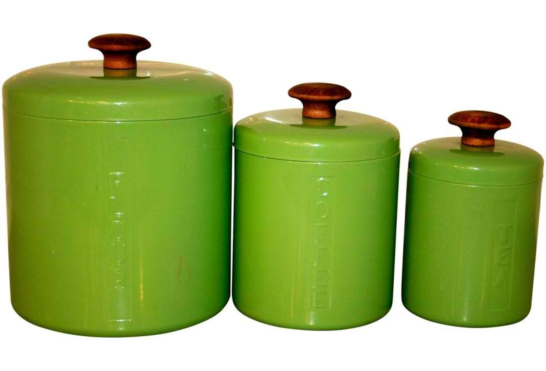 Lime Green Canister Set