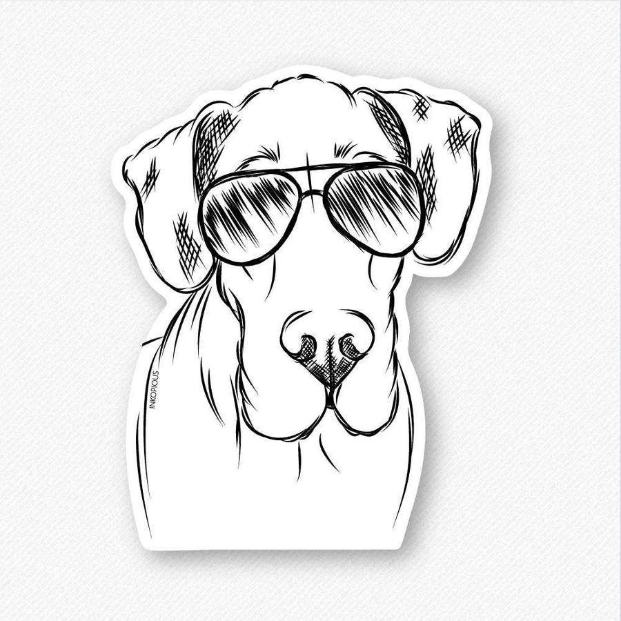 Titus The Great Dane Decal Sticker Great Dane Great Dane