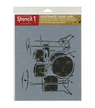 Stencil 1 Drumset Stencil 8.5''x11''