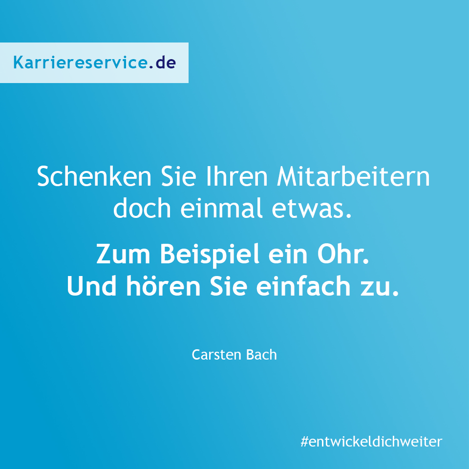 Karrierespruch zum Zuhören. Karriereservice.de