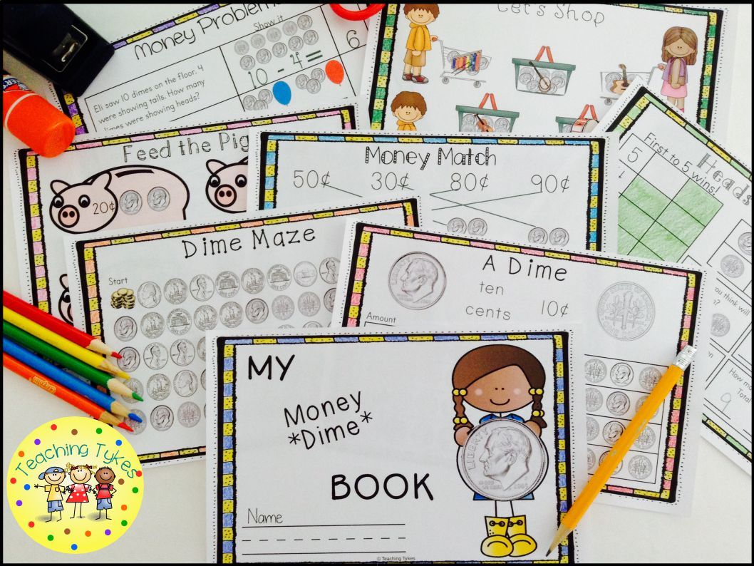 Book Title Worksheets : Money coin dime interactive book problems coins and shops