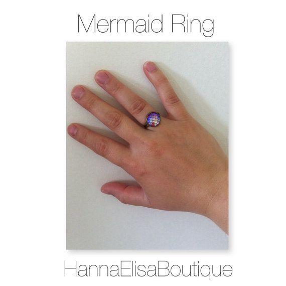Mermaid ring mermaidscale rings Ariel Disney door HannaElisaBoutique