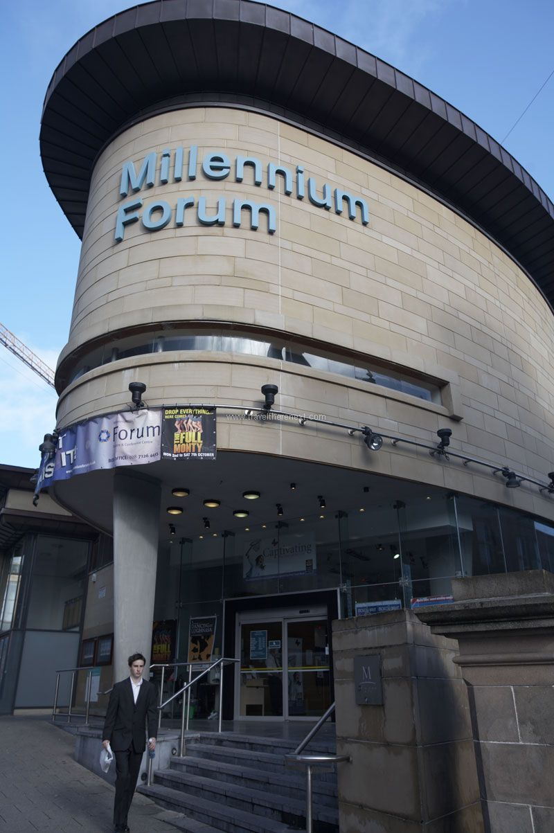 Things to do in Derry - The Millenium Forum #ireland #derry #europe #city #discover #guinness #pub #experience #history #travel #traveltherenext #wallofderry