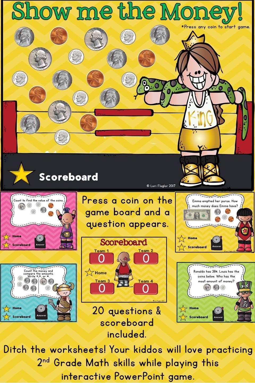 money interactive powerpoint math game math for second grade