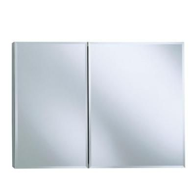 Recessed Or Surface Mount Medicine Cabinet In Silver Aluminum K Cb Clc3526fs At The Home Depot