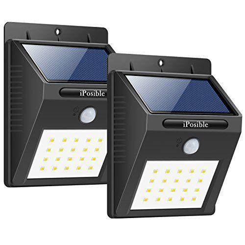 iPosible Lampe Solaire,20 LED Eclairage Exterieur Imperméable Sans ...