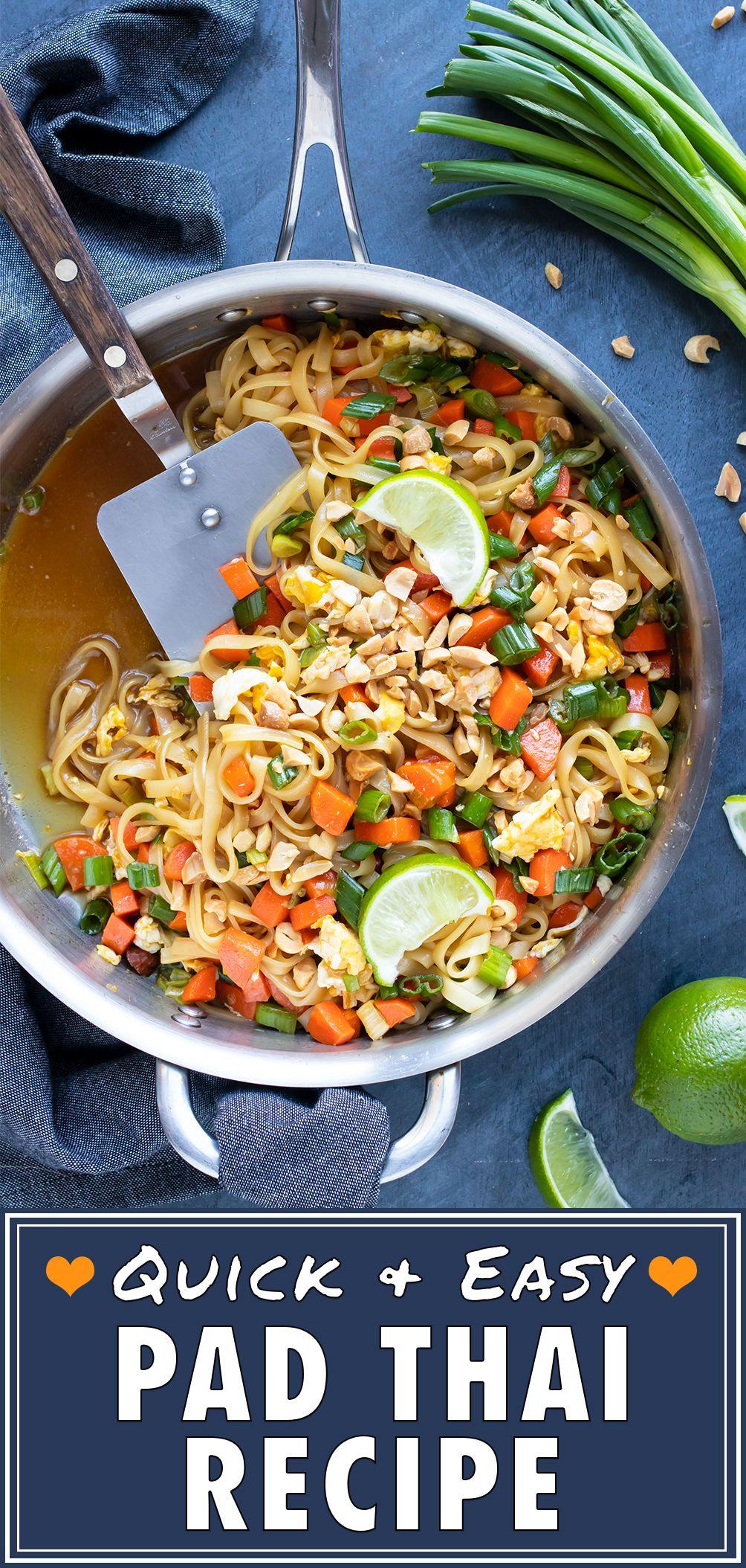 Easy pad thai recipe food recipes quick vegetarian