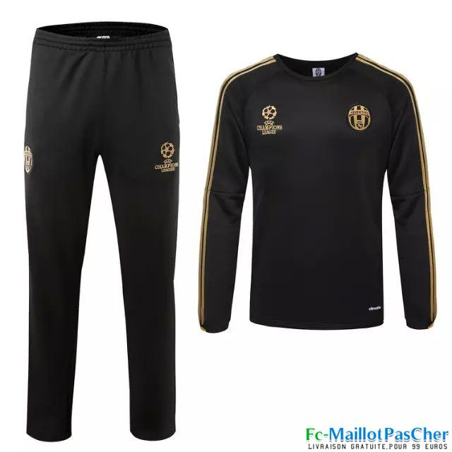 Nouveau Champions league Survetement Juventus Noir 15 2016
