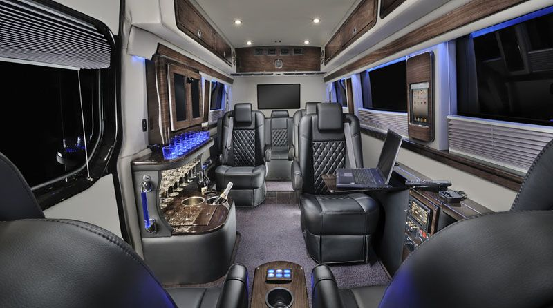 Custom Sprinter Vans Luxury Conversion Vans Sprinter Van Midwest Automotive Designs My