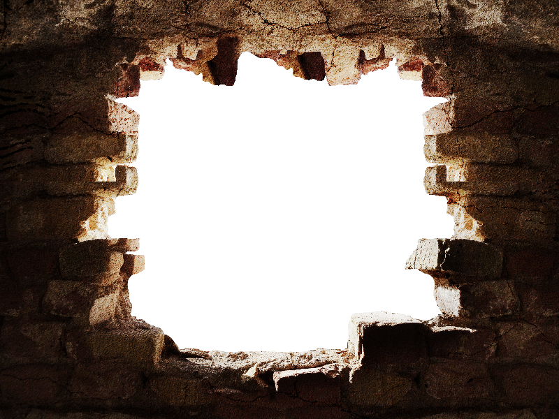 Broken Stone Wall With Hole Png Background Old Images Stone
