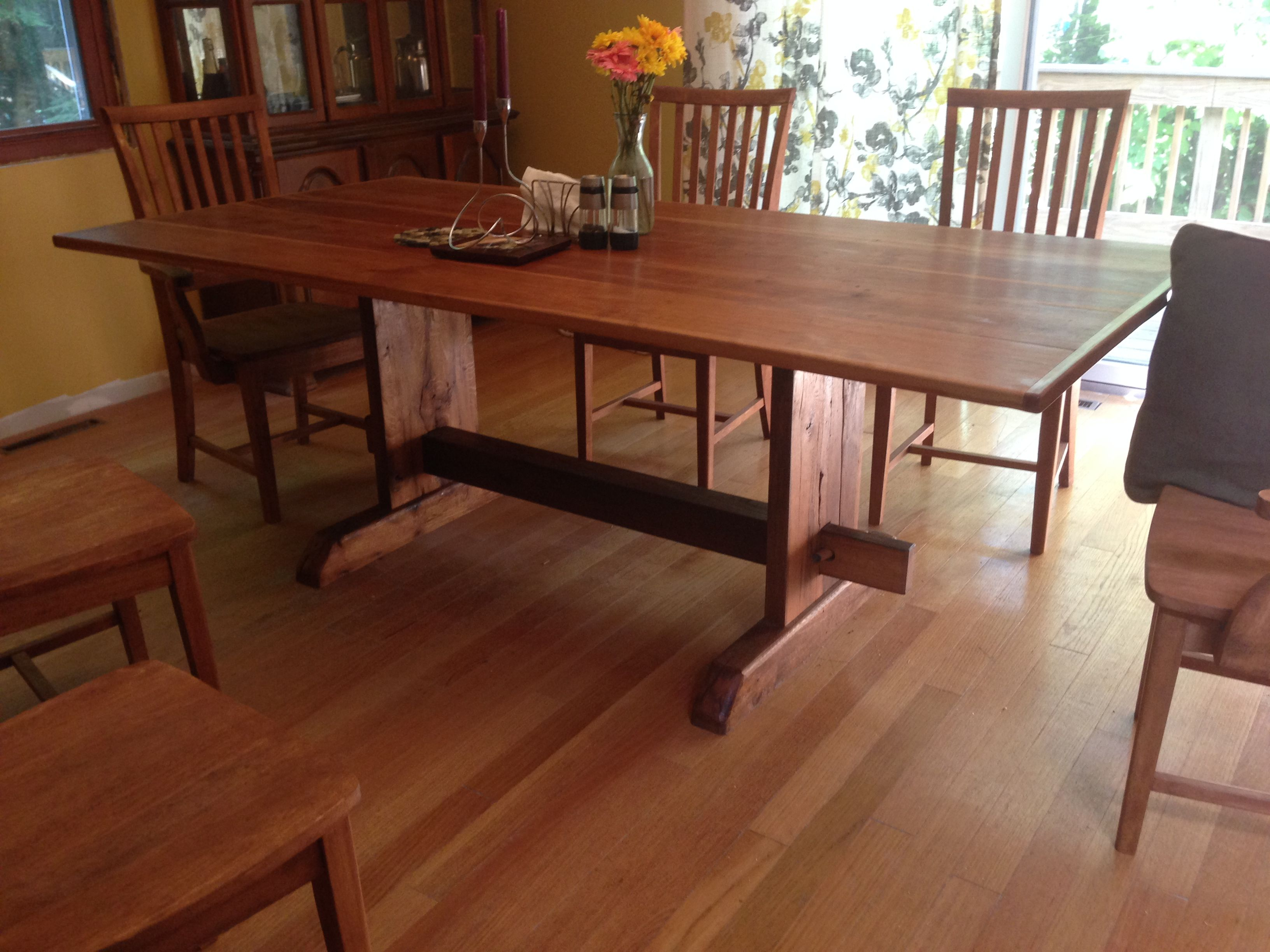 Shaker Style Dining Room Table Shaker Style Dining Room Table And