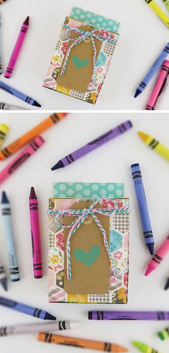 20 + Creative Christmas Gifts for Teachers From Kids | Crayon box ...