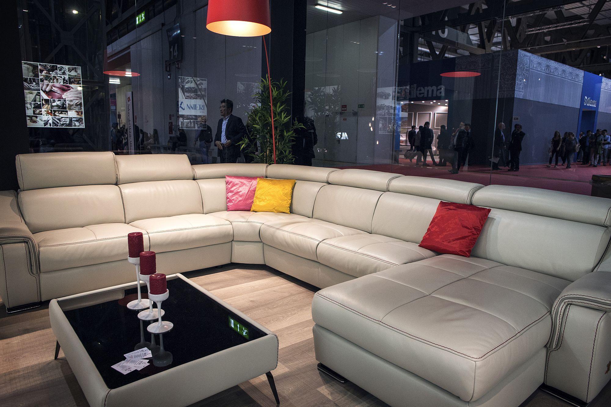 l shaped sofa design plus fluffy area rug