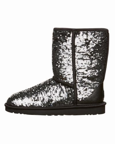 UGG Boots - Shop here > http://www.surfstitch.com/eu/en/product/ugg-womens-classic-short-sparkles-boots-black-multi-1002765BLKM #uggboots #boots #footwear #newarrivals #aw13 #surfstitch
