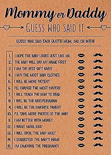 Photo of Mommy or Daddy, Guess Who Said It, He Said She Said, Who Said It Mom or Dad Game, Guess Who S…