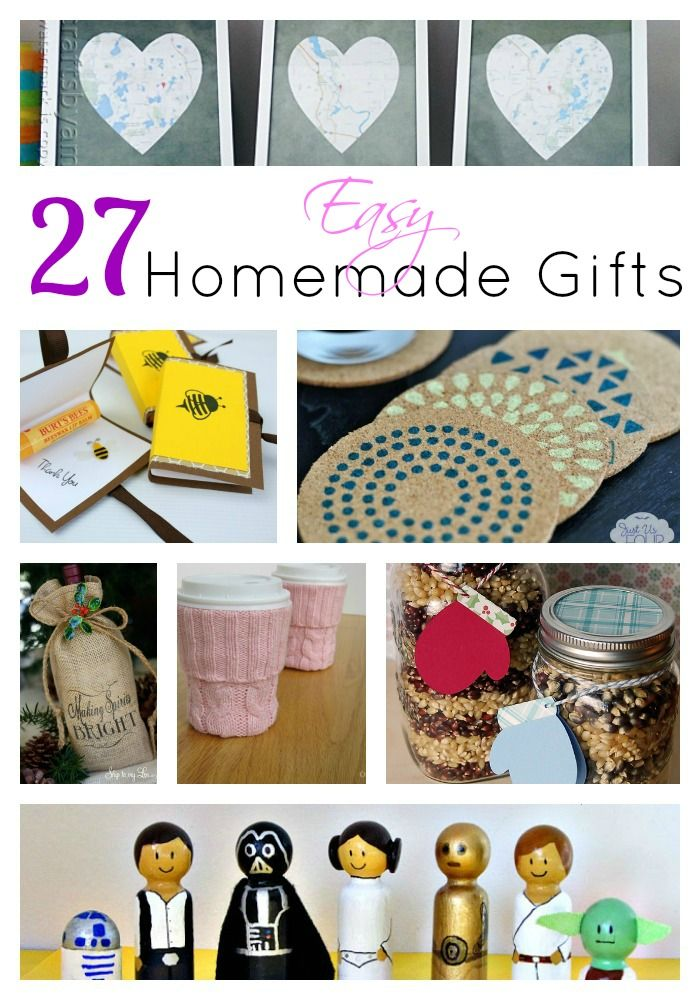 27 easy homemade gifts craft ideas pinterest easy homemade