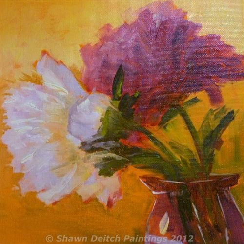 """Peonies"" - Original Fine Art for Sale - © Shawn Deitch"