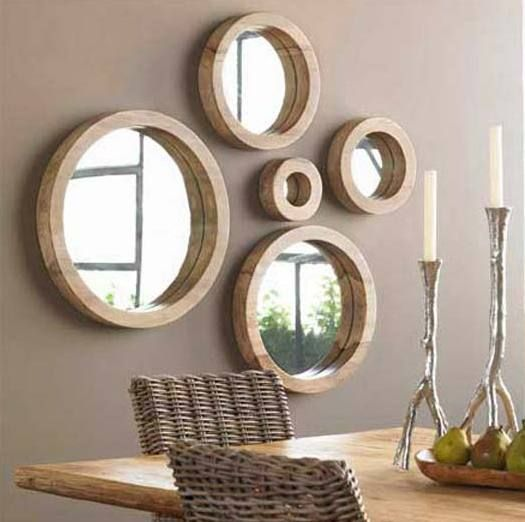 Attraktiv Spiegel Wandgestaltung