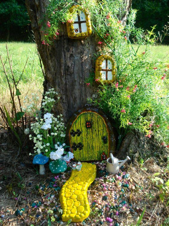 Photo of Fairy Door Kit, Fairy Garden Kit, Fairy Garden Dekor, Fairy Door Zubehör Kit, Fairy Türen und Fenster, Geschenke für Mama,