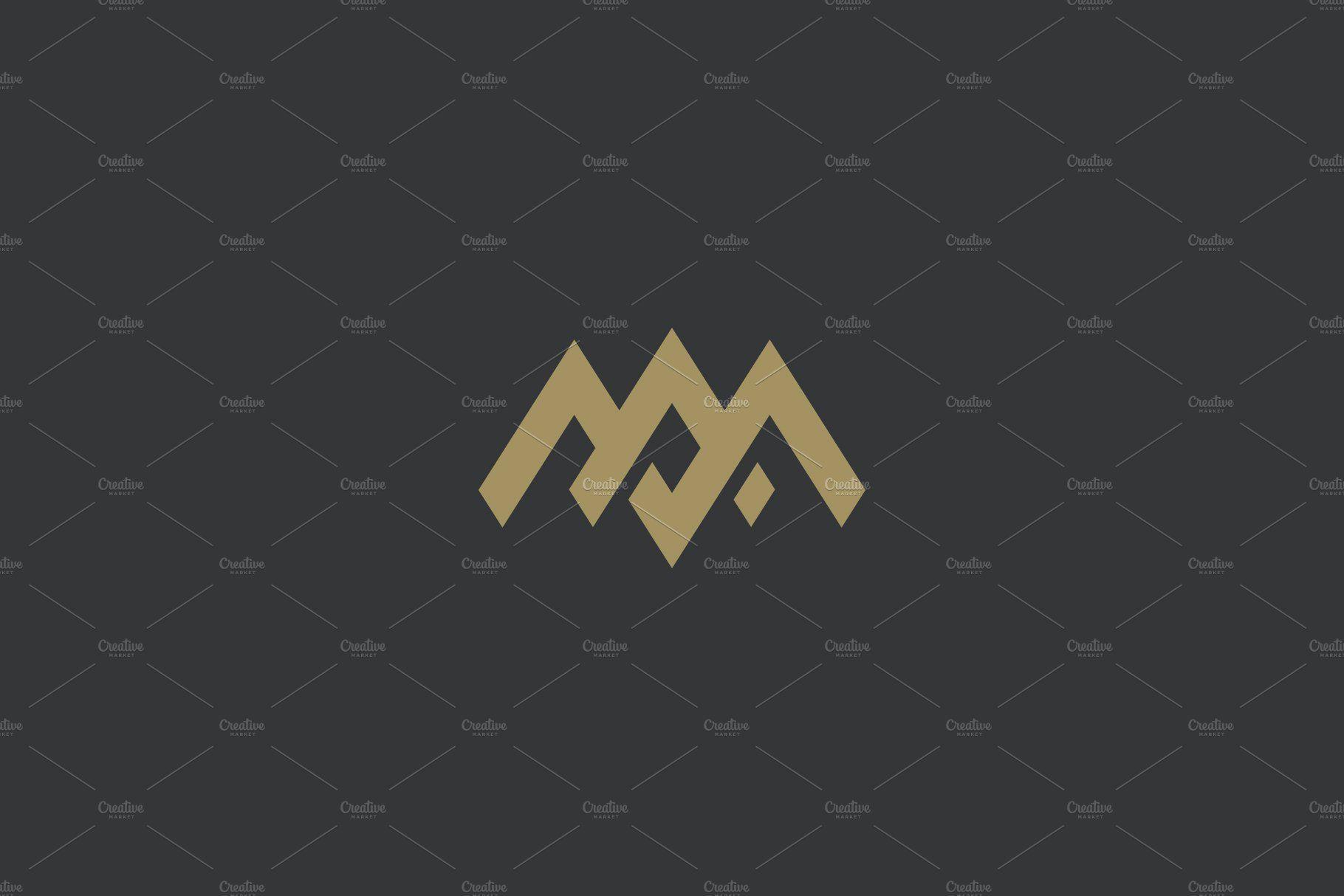 Premium Am Or Ma Letters Logo Design Letter Logo Design