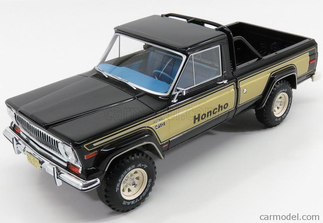 bos-models bos264 scale 1/18 jeep j10 honcho pick-up 1976 black