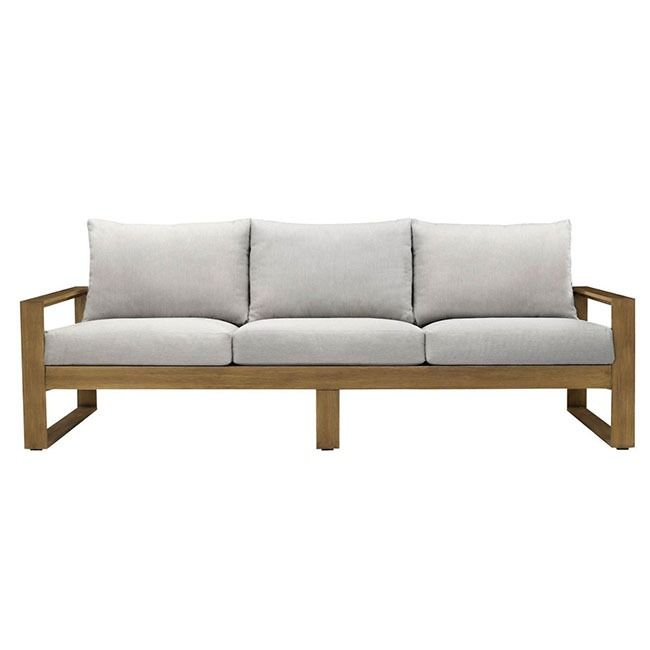 Refreshingly Minimalistic Yet Inviting And Comfortable The Tilley Outdoor Sofa Turns Your Deck Or Patio Into A Chic Outdoor R Outdoor Sofa Sofa Outdoor Rooms