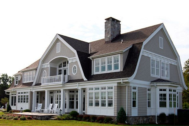 Gambrel Style Home Hammond Wilson Architects Houses