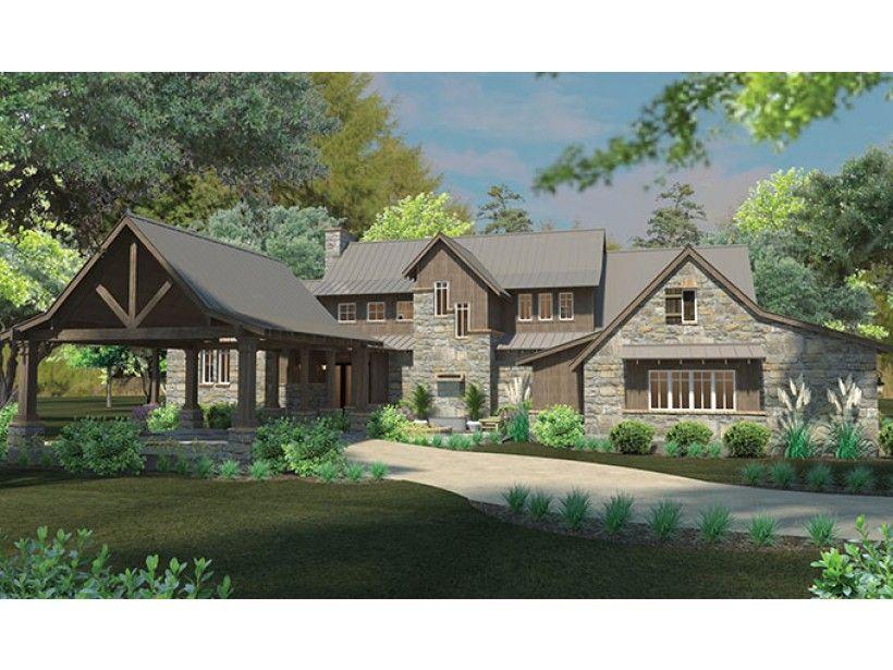 craftsman style house plan 4 beds 4 baths 4164 sqft plan 120 186 - House Plans Drive Through Carport