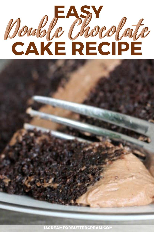 Easy Double Chocolate Cake #easychocolatecake