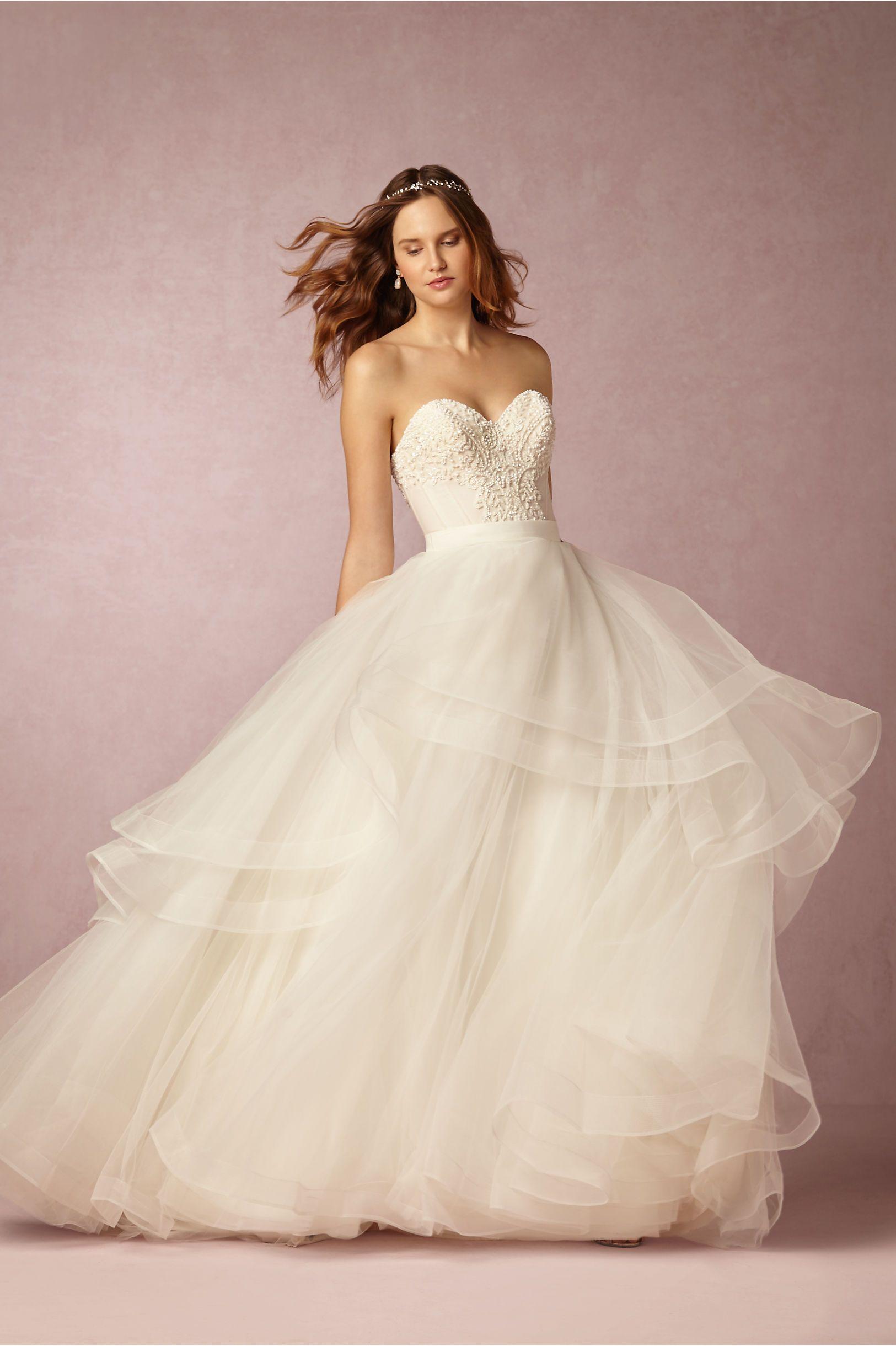 Simple BHLDN Tisha Corset u Almira Skirt in Bride Wedding Dresses at BHLDN Follow my posts