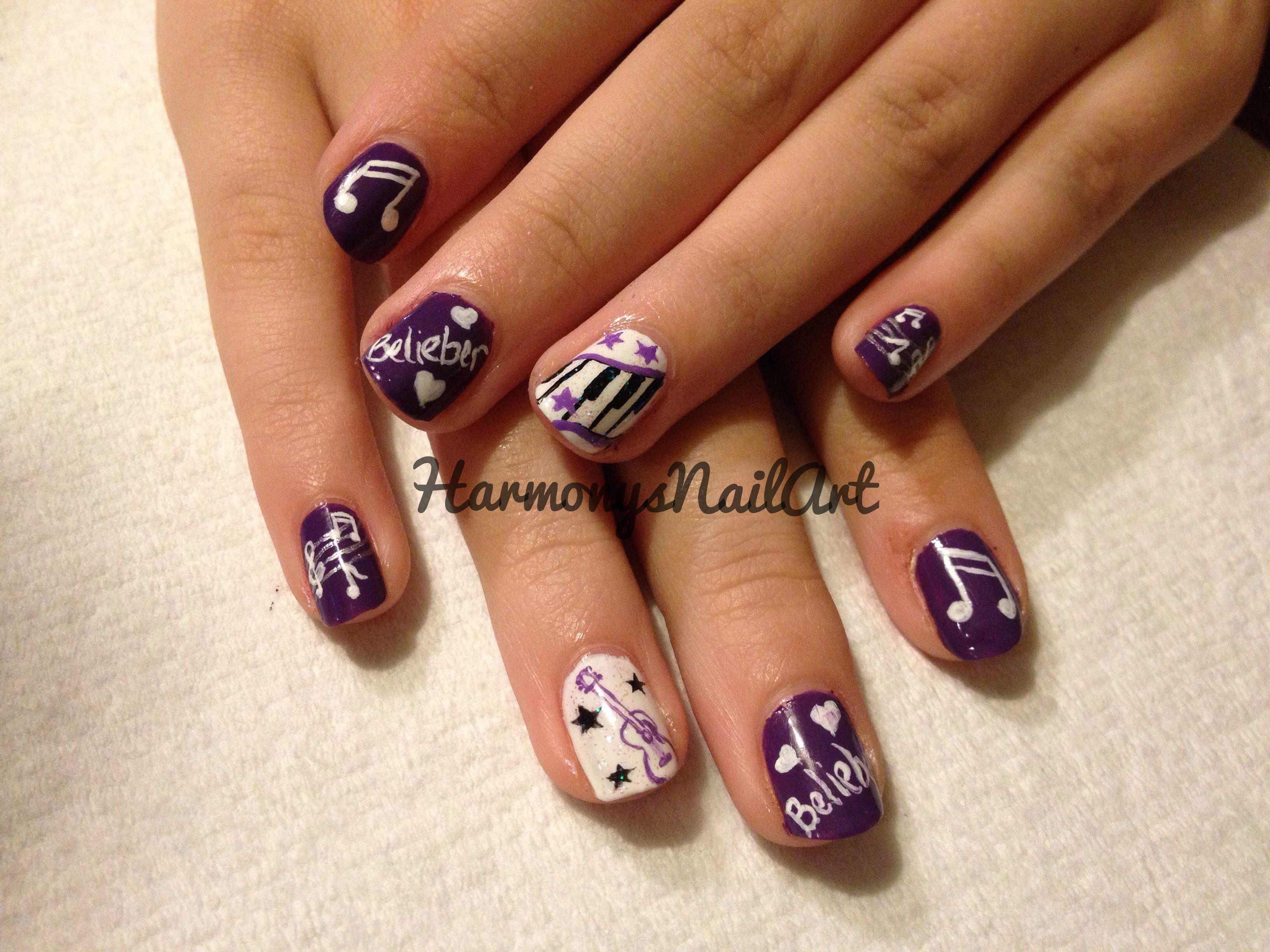 Justin Bieber Nails (kids nails)   NailArt   Pinterest   Kid nails ...