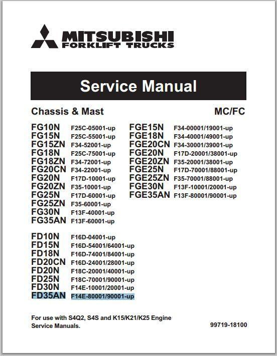 Mitsubishi Forklift Trucks FG10N-35AN, FGE10N-35AN, FD10N