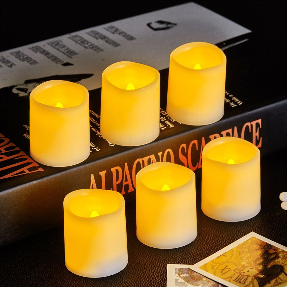 Flameless Votive Candles Vongem® Indoor And Outdoor Flickering Flameless Votive Candles With