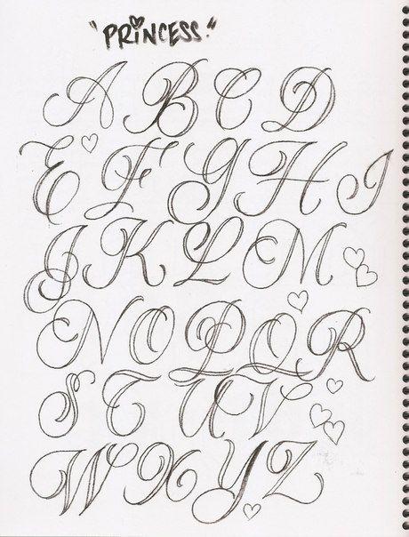 Tattoo Alphabet Handwriting Fonts Caligrafia Mas
